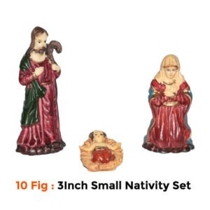 Jesuskart-3 inch Starter Nativity Set for Kids