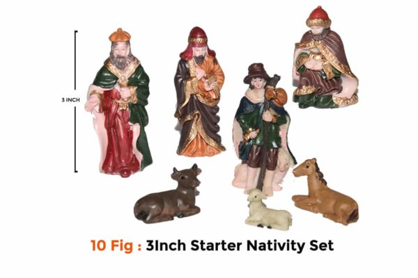 Jesuskart-3 inch Starter Nativity Set for Kids crew