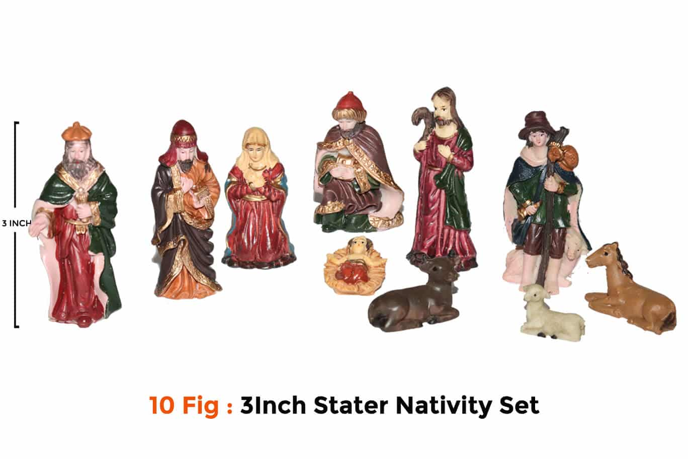 Jesuskart-3 inch Starter Nativity Set for Kids free delivery