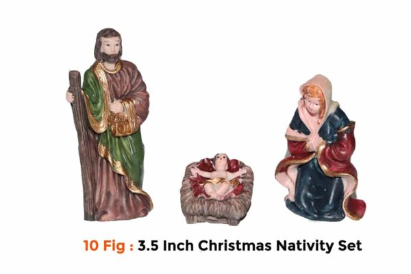 Jesuskart-Small Christmas Nativity Set 9cm or 3 inch