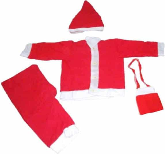 Santa Dress of 6 Months to 12 Years Kids
