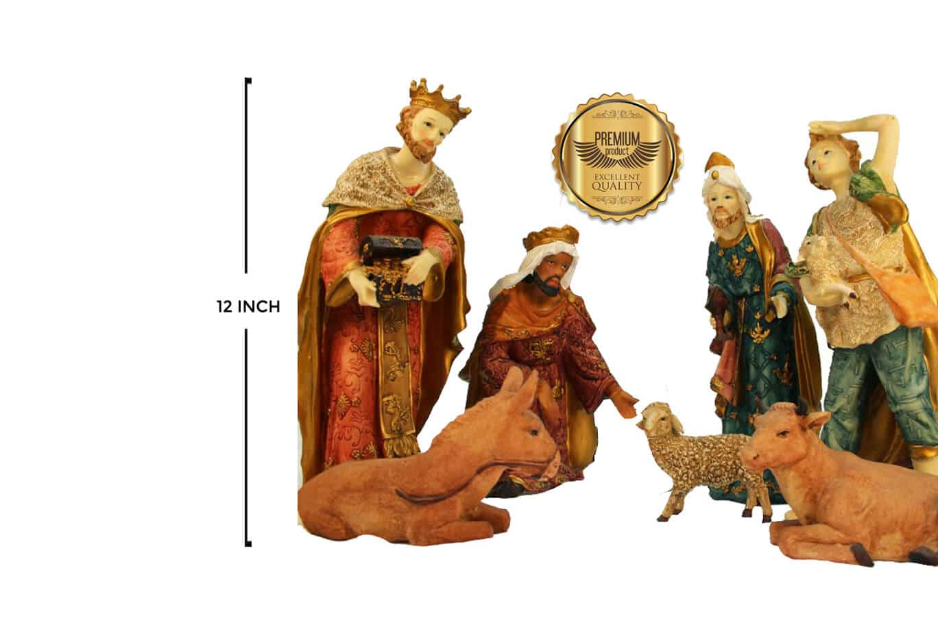 Jesuskart 12 Inch Royal Nativity Set Crew