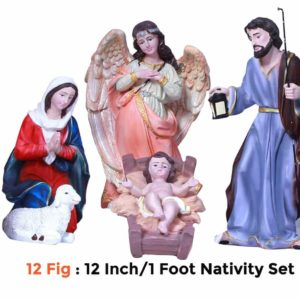 Jesuskart-12-inch-1-Feet-Christmas Nativity Set 12 figs