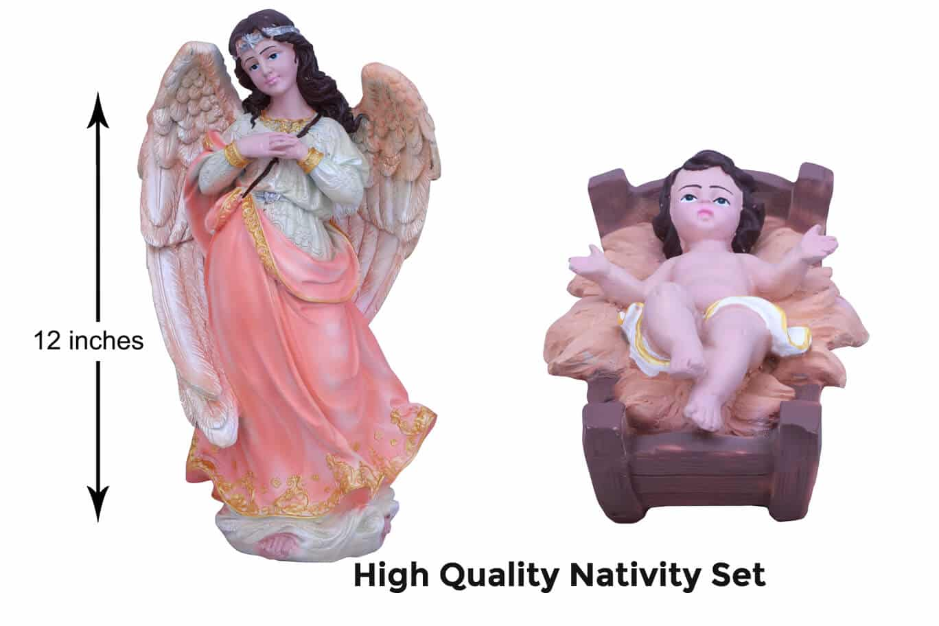 Jesuskart-12-inch-1-Feet-Christmas Nativity Set angel and baby Jesus