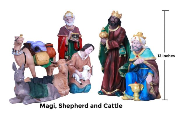Jesuskart-12-inch-1-Feet-Christmas Nativity Set magi and shepherd