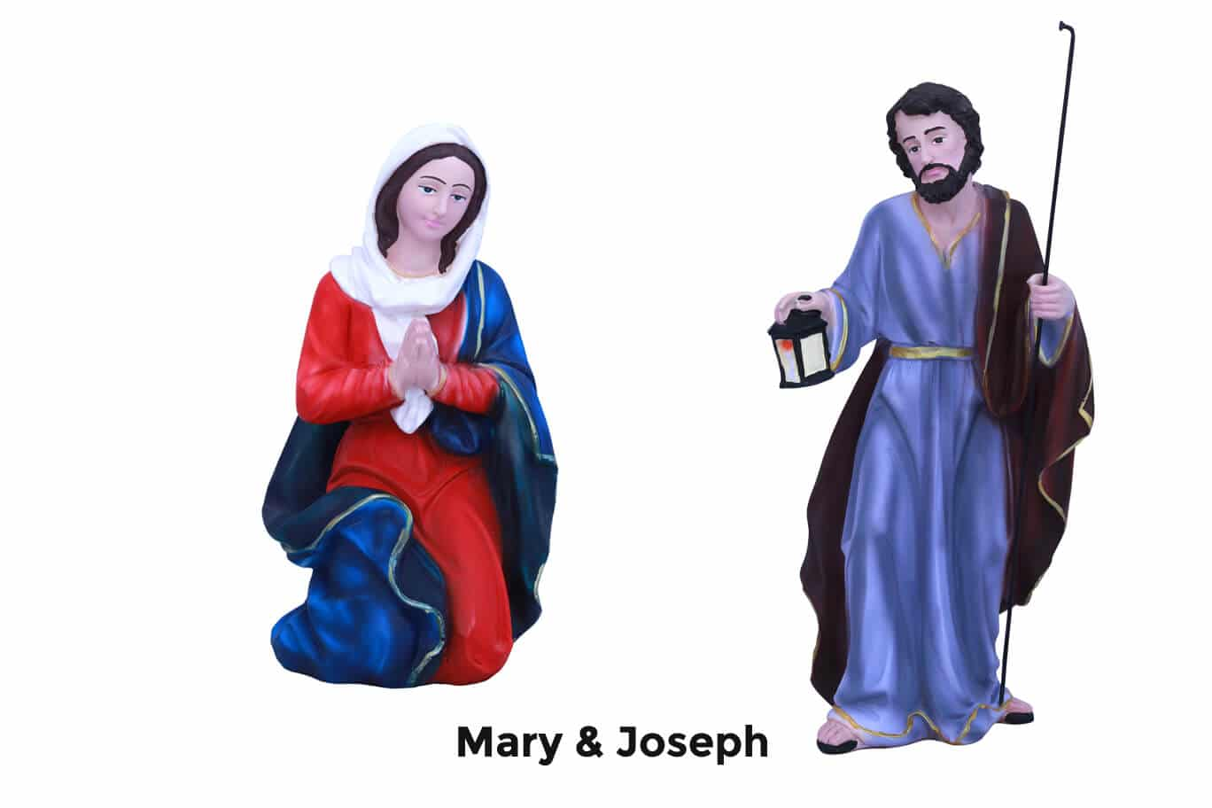 Jesuskart-12-inch-1-Feet-Christmas Nativity Set Mary and Joseph