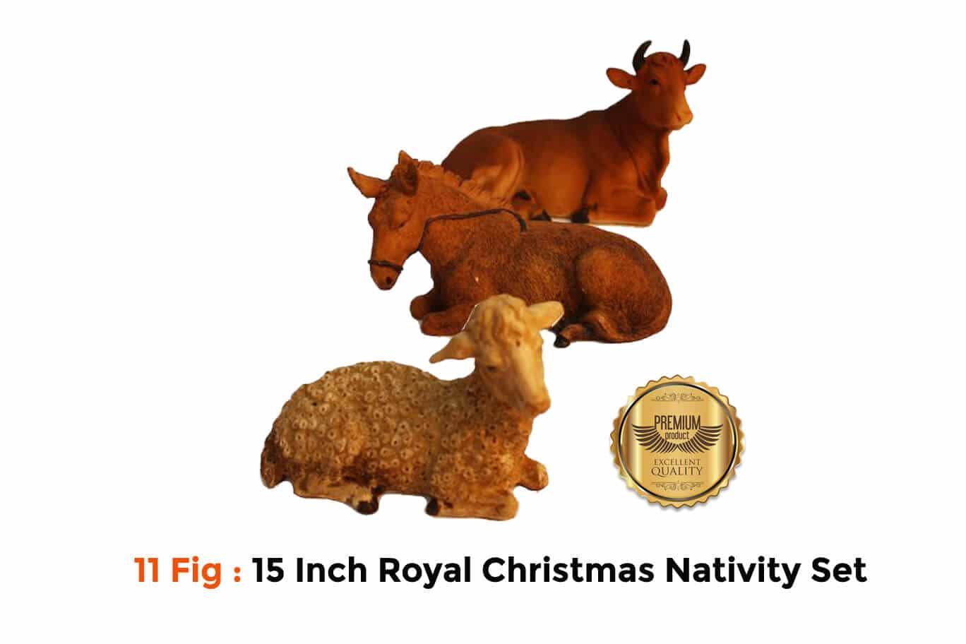 Jesuskart 15Inch Royal Nativity Cattle Set-buy online