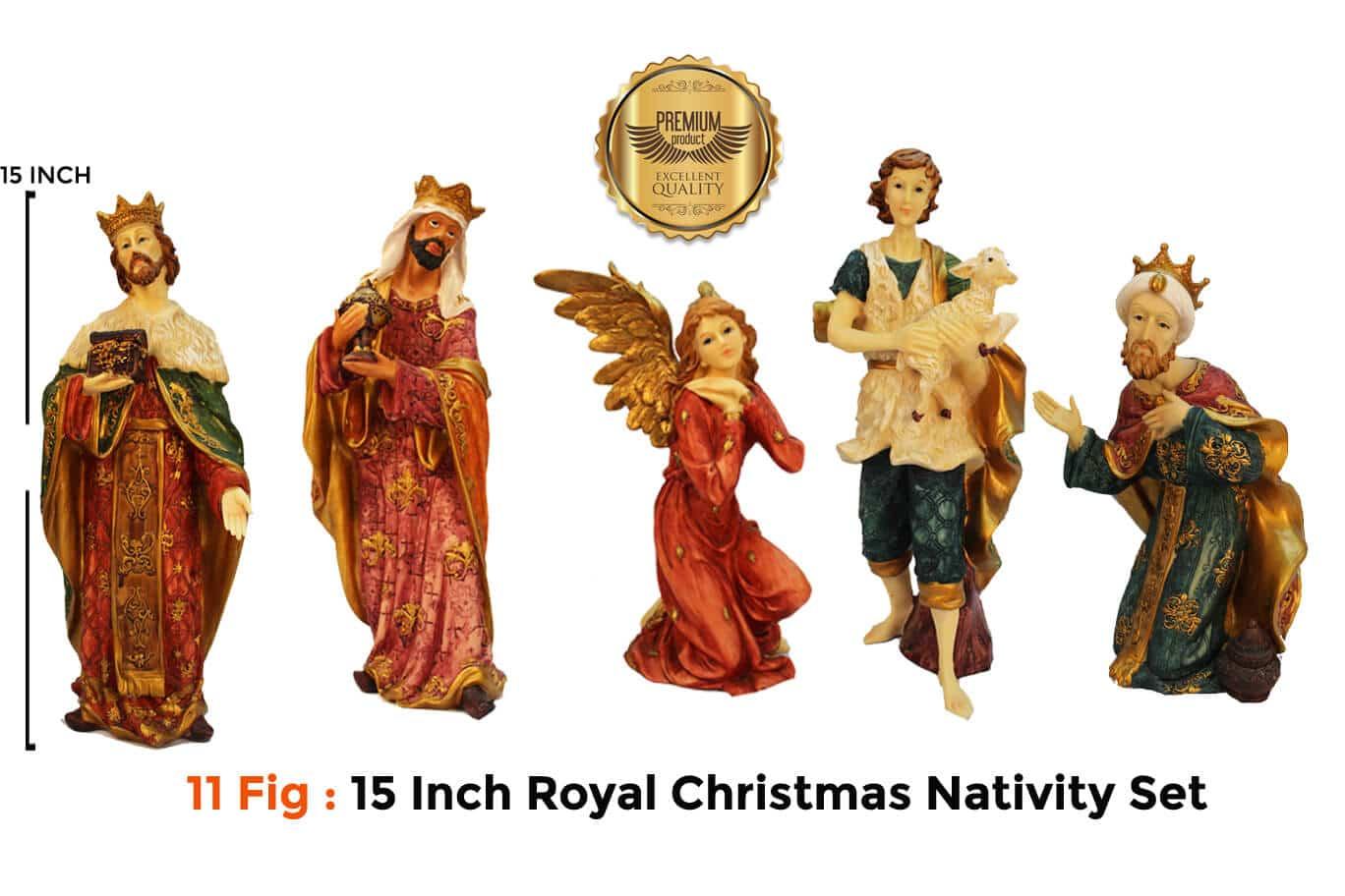 Jesuskart 15Inch Royal Nativity Set crew