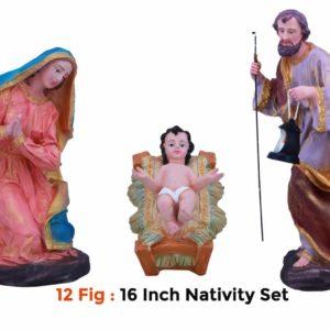 Jesuskart-16-inch-1-Feet-Christmas Nativity Set 12 figs