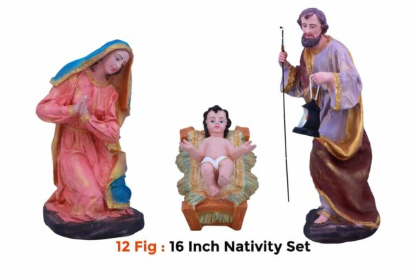 Jesuskart-16-inch-1-Feet-Christmas Nativity Set 12 figs