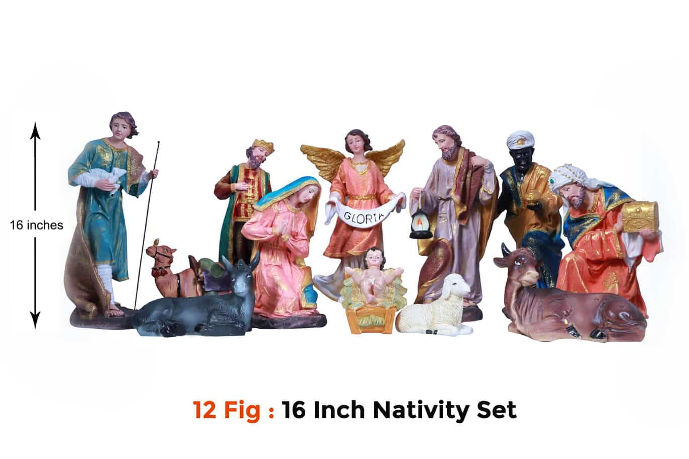 Jesuskart-16-inch-Christmas Nativity Set 12 figs