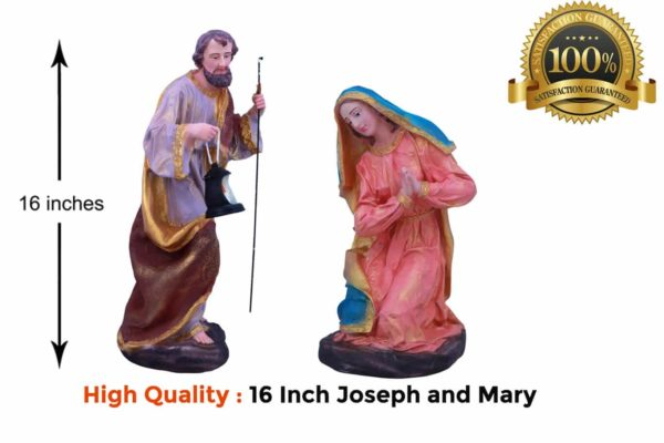 Jesuskart-16-inch-Christmas Nativity Set Joseph and Mary