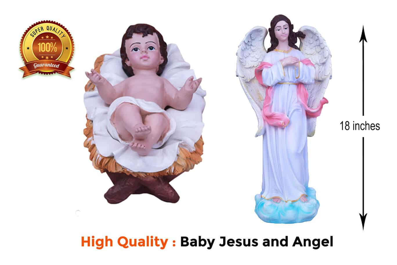 Jesuskart-18-inch-Christmas imported Nativity Set Angel and Baby Jesus
