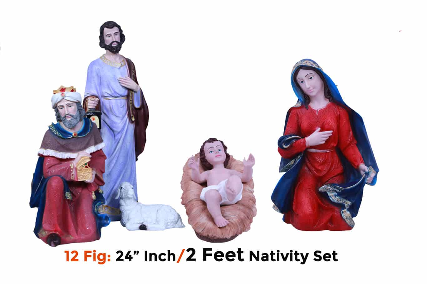 Jesuskart-24-inch-2-Feet-Christmas Nativity Set