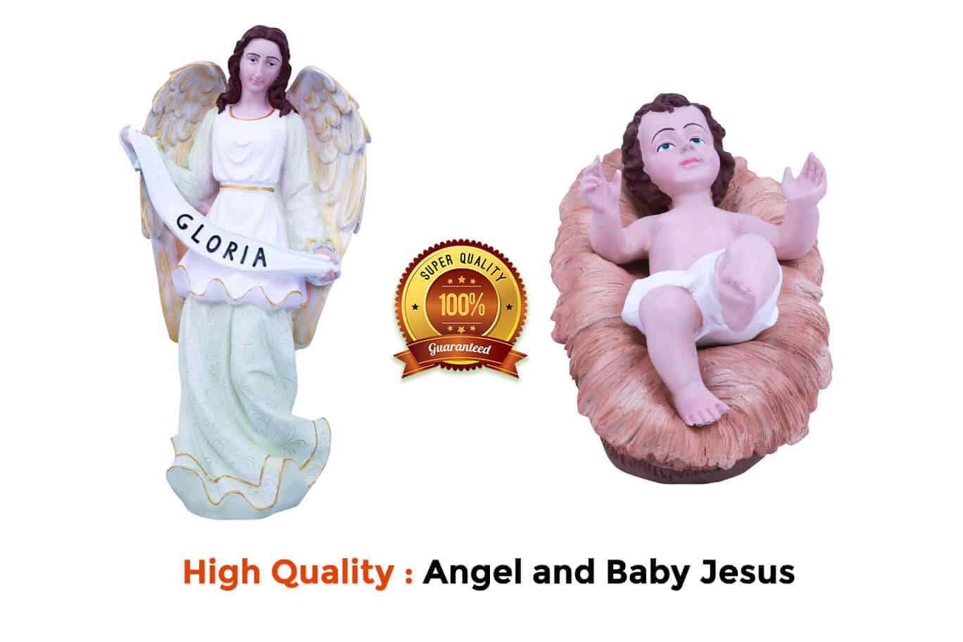 Jesuskart-24-inch-2-Feet-Christmas imported Nativity Set Angel and Baby Jesus