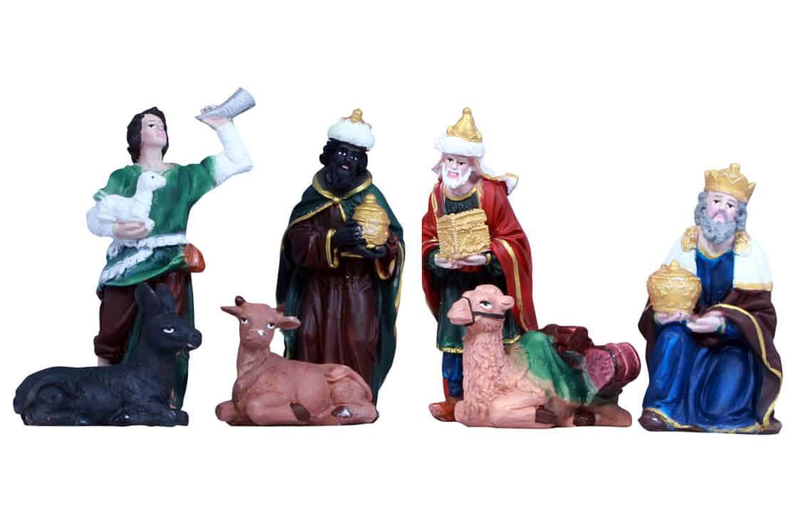 Jesuskart-5 inch nativity crib-set shepherd and kings