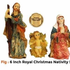 Jesuskart 6 Inch Royal Nativity Set-11 fig- holyfamily