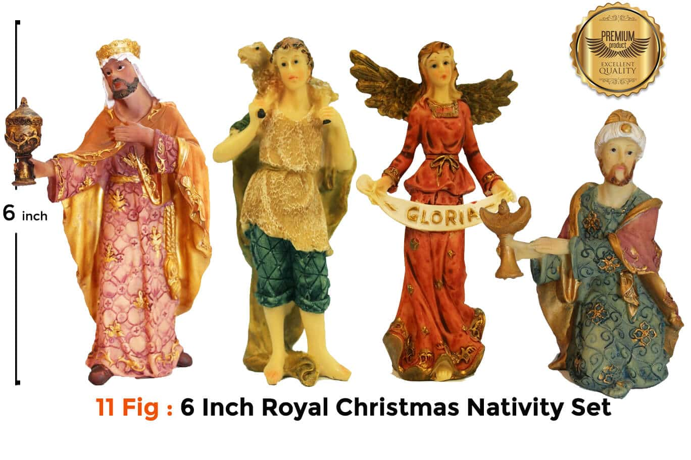 Jesuskart 6 Inch Royal Nativity Set