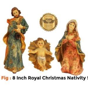 Jesuskart 8 Inch Royal Christmas Nativity Set