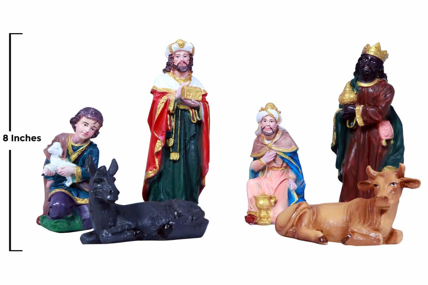 Jesuskart-8 inch-Christmas Nativity Set- Kings and cattle