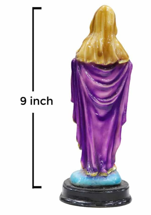Jesuskart-9 inch-Sacred Heart of Mary Marble Statue standing3