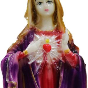 Jesuskart-9 inch-Sacred Heart of Mary Marble Statue standing4