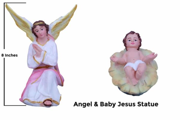 Jesuskart-Angel & Baby Jesus Statues