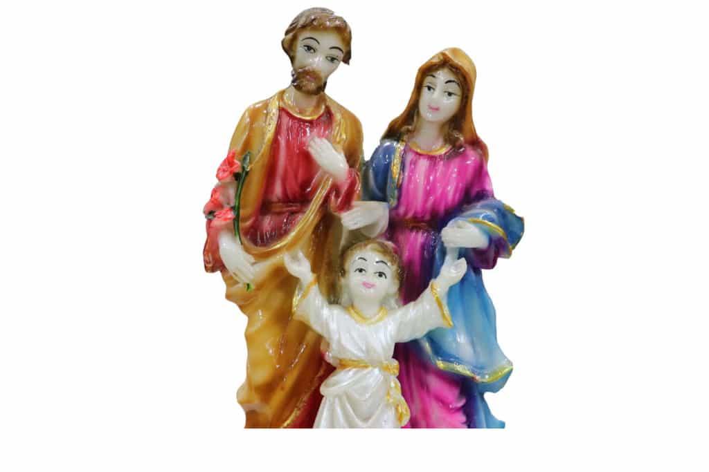 Jesuskart-Holy Family Glossy Marble stone
