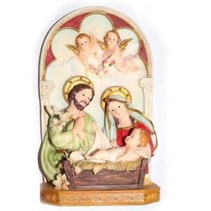 Jesuskart-Holyfamily-12 inch glassfiber-polymarble statue