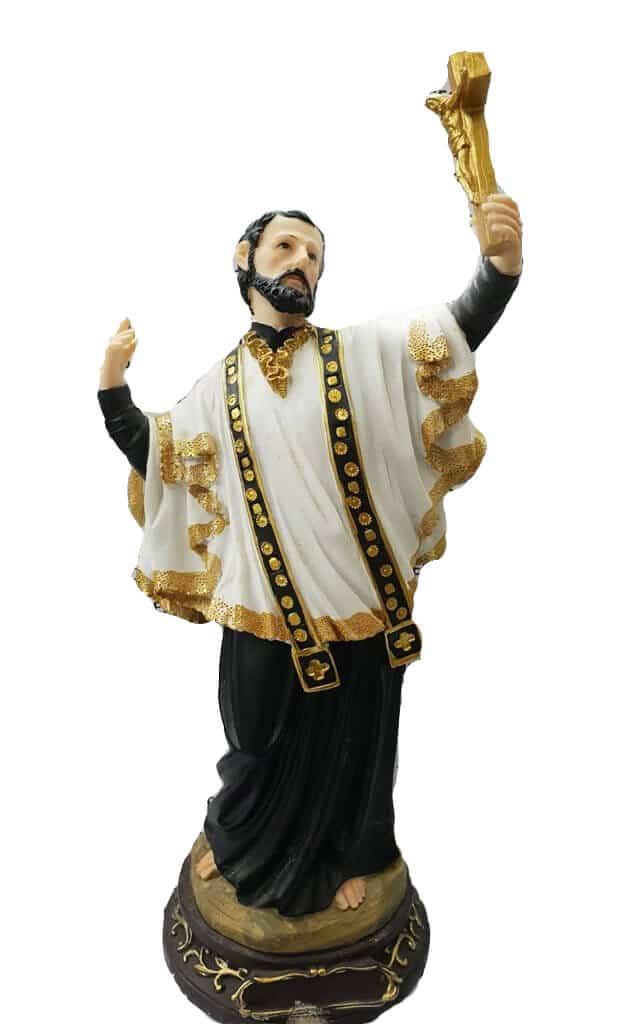 Jesuskart-francis xavier 12 inch glassfiber-polymarble statue