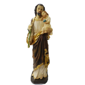 Jesuskart-saint-Joseph bith jesus and Lily flowers-statue-12-inch 1 Foot m3