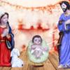 Jesuskart-5 inch nativity crib-set Mary and Joseph