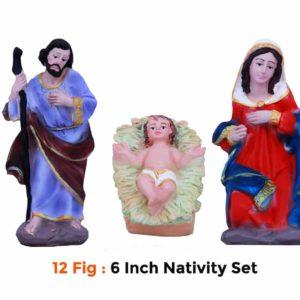 jesuskart-12 Figure 6 Inch Christmas Nativity Set buy online