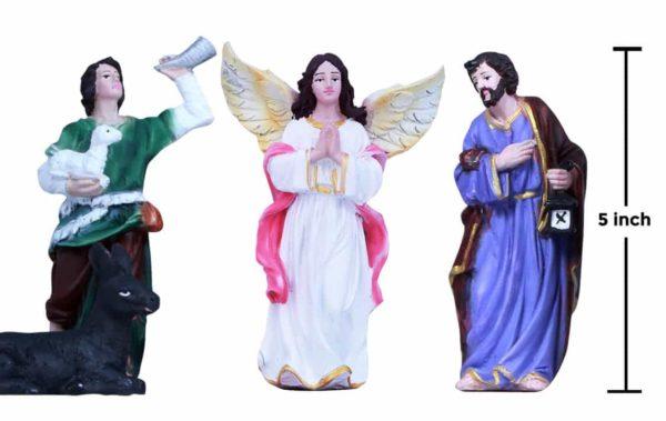 jesuskart-5 inch nativity crib-set statues