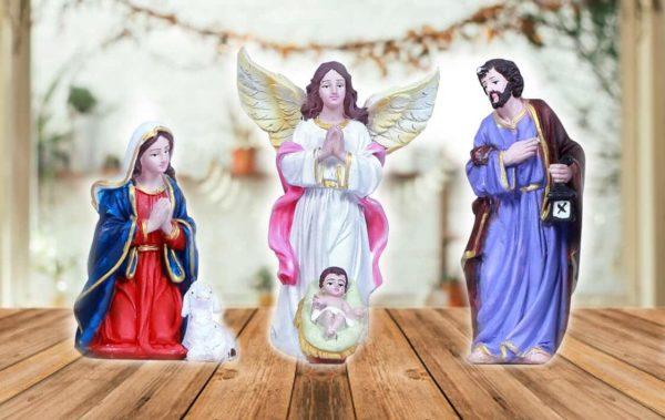 jesuskart 5 inch nativity set holy family