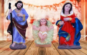 jesuskart 6 Inch nativity cribset