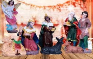 jesuskart-6 inch nativity crib set kings and camels